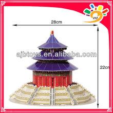 115pcs Weltarchitektur Der Tempel des Himmels Kinder DIY Papier 3D Puzzle Spiel, Kinder Ausbildung Puzzle Spielzeug