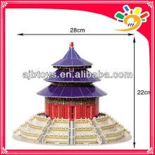 115pcs world architecture The Temple of Heaven children DIY paper 3D puzzle game, kids education puzzle toys