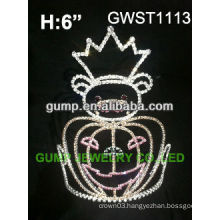 Halloween pumpkin queen pageant custom rhinestone crown -GWST1113