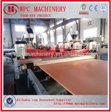 PVC em pó adiciona linha de produção composta de madeira / linha de produção de placa WPC