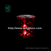 Color Double Wall Glass Candle Votive by SGS (8*7.5*10)