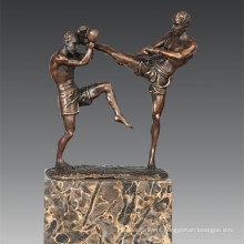 Sports Statue Sanshou/Sanda Players Bronze Sculpture, Milo TPE-771