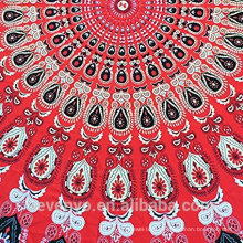 100% polyester fashionable premium round beach towels for adults