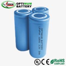 High Energy Density Screw/Flat Type 32650 3.2V 5ah LiFePO4 Battery Cell