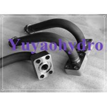 Conector de tubo hidráulico de soldadura para linha de tubulação de máquinas de construção