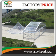 clear top plastic wedding tent with Aluminum Pole Material and PVC coated polyester Fabric for 500 people
