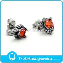 TKB-E0083 Cz Stone Jewelry Faites vos propres boucles d'oreilles à la mode Biker Dragon Claw