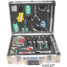 caja de herramientas de aluminio fuerte y portátil con inserto de espuma personalizadas dentro de ventas calientes