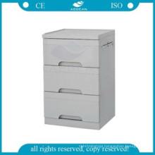 AG-BC002 three drawers lightweight hospital medicine locker cabinet