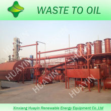 New Invention 3/5/10T Used Motor Engine Tire Oil Refinery Machine To Diesel Without Discharging