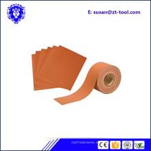 rollo de papel abrasivo de arena para hardware de muebles