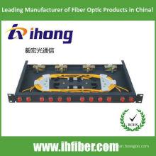 Panel de conexión de fibra óptica de montaje en bastidor de 19 pulgadas Puerto FC 12