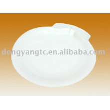 Custom plain white porcelain condiment plate