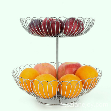 Western style 304 stainless steel fruit basket rotating fruit basket