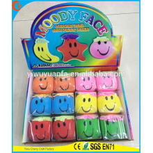Hot Selling Cute Shape Novelty Design Moody Face Ball Toy Stress Ball