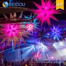 Decoración del banquete de la etapa del acontecimiento del PVC Estrella inflable encendida de las medusas