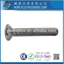 Feito em fábrica de Taiwan DIN966 Aço inoxidável Phillips levantou ovelha de cabeça esculpida com cabeça oval