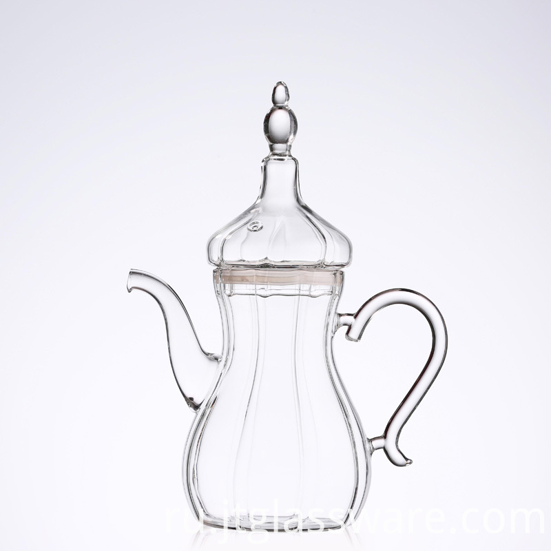 Glass teapot for Turkey