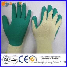 10 Gauge Baumwolle / Polyester Shell Latex Palm beschichtet Latex beschichteten Handschuh