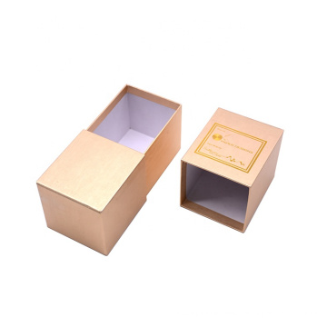 Wholesale Custom Made Logo Stamped Rigid Cardboard Sliding Drawer Box Storage box Gift Box