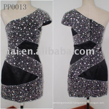 real customized beaded short party Dress