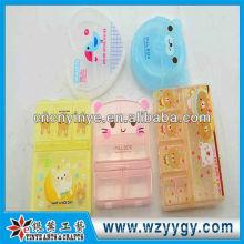 Новый дизайн милый пластиковые таблетки коробки для принятия легко