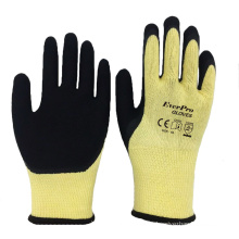 Super Grip Breathable 10 Gauge 5 yarn Cotton Lined Latex Sandy Coated Glove with Thumb Coated