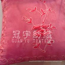 Broderie en daim pour tissu de housse de coussin décoratif à la maison