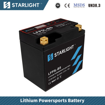 Batterie de moto au lithium LFP5L-BS / batteries de sports motorisés