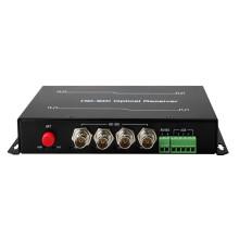 Отель hongrui 4 канала HD SDI видео конвертер с 1 обратного данных цифровой Оптический передатчик/приемник сделано в Китае