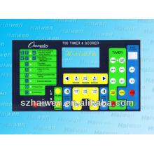 Квадратный водонепроницаемый кнопочный мембранный выключатель