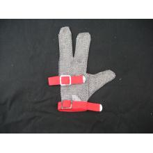 Steel Chain Mail Schutzhandschuh mit 3 Fingern