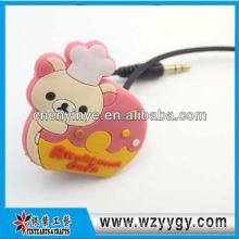 Niedliche weich pvc Werbe Kopfhörer Kabelhalter
