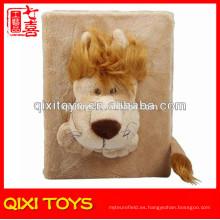 Brown Lion Plush Velour Toy Recuerdos Photo Album Skin Cover