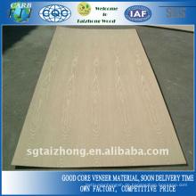 Gute Qualität Natürliches weißes Eschenfurnier-Sperrholz