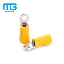 Terminal de anillo con aislamiento de alambre de cobre amarillo aislado