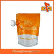Hersteller hochwertiges Verpackungsmaterial aufstehen Beutel mit Eckauslauf für Flüssigkeits- / Getränkeverpackung