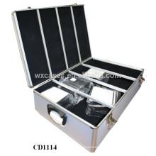 alta qualidade & forte CD 1200 discos CD caixa de alumínio grosso