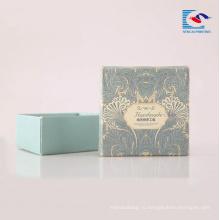 Высокое качество твердого картона бумажные упаковывая для мыла ручной работы черный мыло
