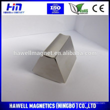 Powerful rare earth trapezoidal shaped neodymium magnets N52 Used for wind generators