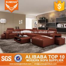 2017 алибаба современного итальянского топ зерна кожаный комплект софы мебели живущей комнаты