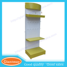 Custom removable 3 layer metal pegboard bulb display stand with logo on the top
