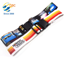 2PCS Bright Colored Cross Luggage Straps With Belt Buckles