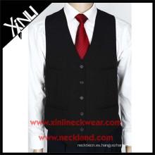 Chaleco y corbata de la boda de los hombres formales tejidos poliéster