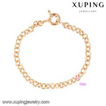 70462 Xuping nuevo diseño al por mayor pulseras de amistad chapado en oro