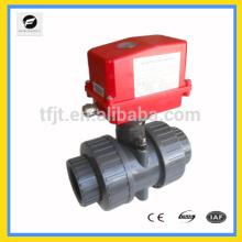 Desligamento do motor Válvulas de motor PVC / UPVC AC220V para colheita de águas pluviais, aquecimento solar, piso radiante