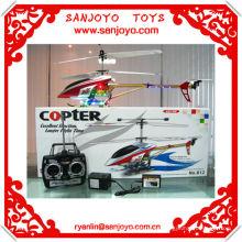 helicoptero 3CH aleación helicóptero rc w / LED colorido