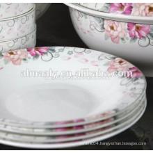 hot sale ceramic omega deep plate