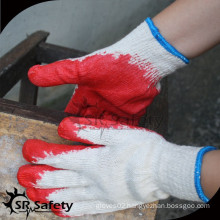SRSAFETY 10 Gauge Polycotton Liner Coated red Latex Gloves bulk latex glove