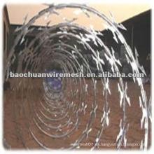 Anti-corrosión CBT-65 galvanizado Scraper tipo de afeitar alambre de púas para la protección con un precio razonable (fabricante)